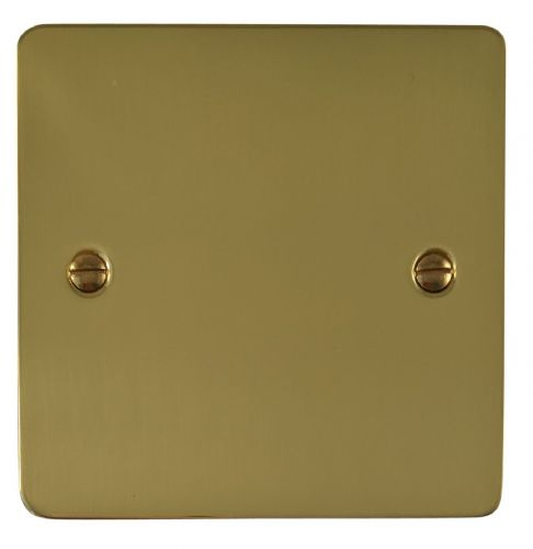 G&H FB31 Flat Plate Polished Brass 1 Gang Single Blank Plate